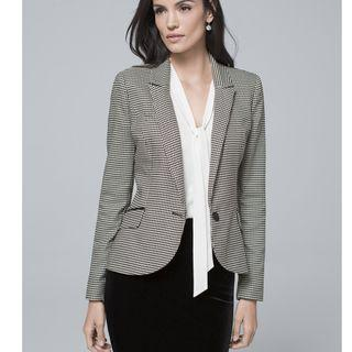 White House Black Market Houndstooth blazer