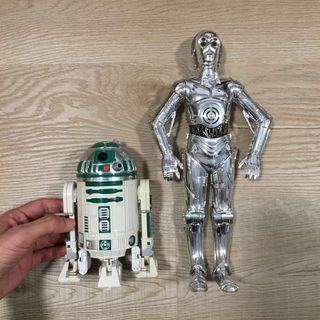 """12"""" star Wars tc-14 protocol droid and r2-a6 astromech Hasbro Kenner"""