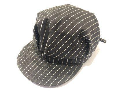 "56d4bddc Momotaro Denim Railroad ""Black Wabash"" Work Hat / Cap (Black)"