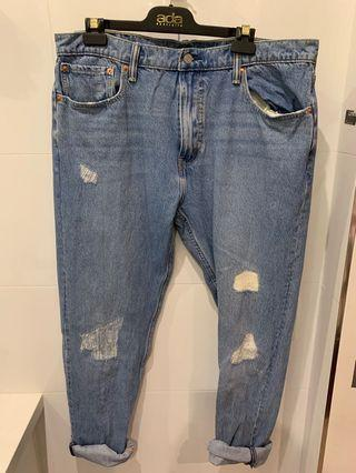 Levi's Blue Jeans with Incidental Pre-Rips