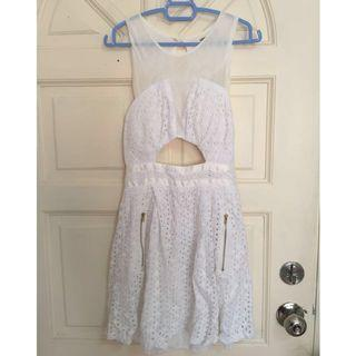 White Dress With Bra Pad Attached