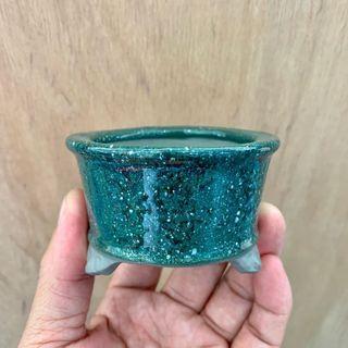 Mini Japanese Glazed Bonsai Pot