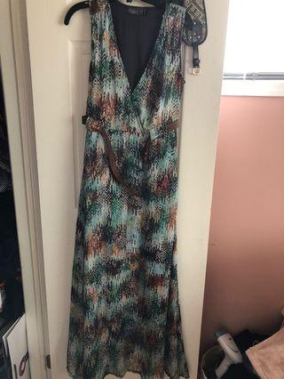 Maxi dress size medium tailored for someone 5ft 4""