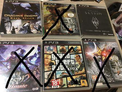 PS3 遊戲片 一片250 兩片480