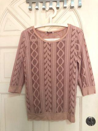 New Look soft pink top