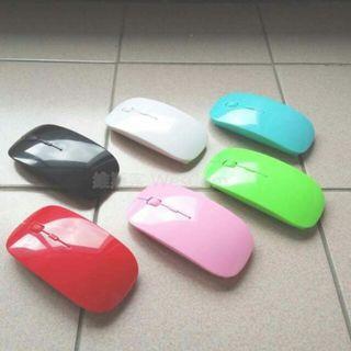 維斯客☆無線滑鼠 輕薄六彩 蘋果質感 2.4G 三段DPI 無線光學 智慧型省電