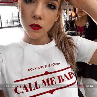 🚚 PO Call me baby Tee
