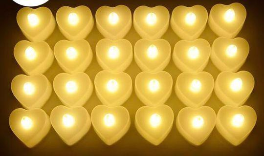 LED love candles - for wedding proposals