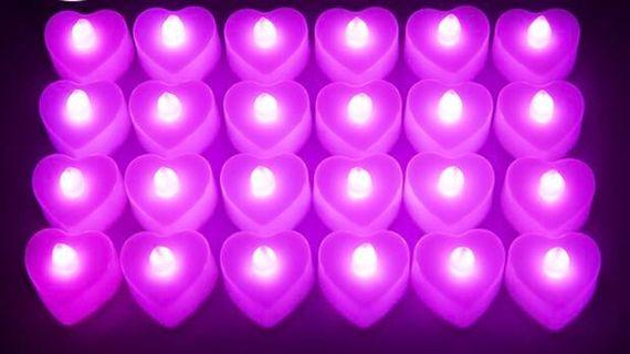 LED love candles - for wedding or proposals