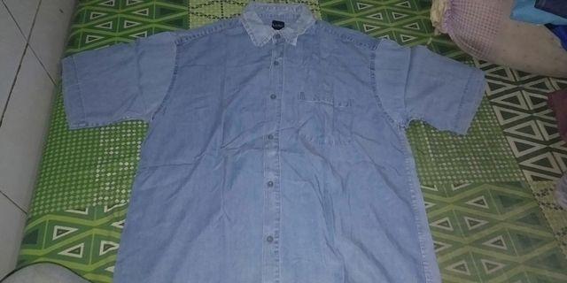 #BAPAU Kemeja Pria motif Levis size XL indo
