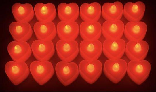 LED love candle - for wedding and proposals