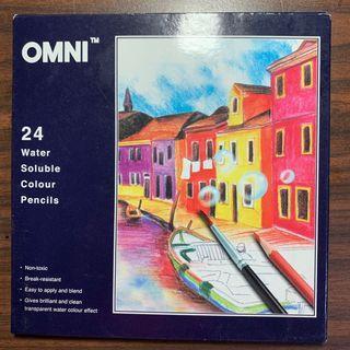 🚚 Omni Water Soluble Colour Pencils (24 colours)