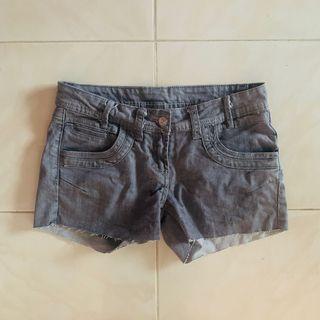 BRAND NEW Grey Frayed Shorts