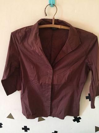 Baju coklat (bisa jadi outer)
