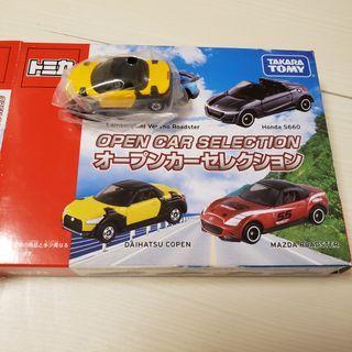 tomy tomica open car set Daihatsu copen散裝車靚跟透明盒