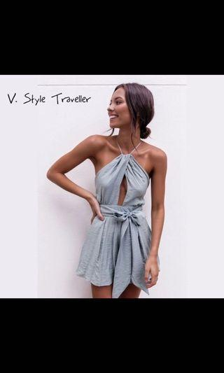 The cutest summer backless romper S