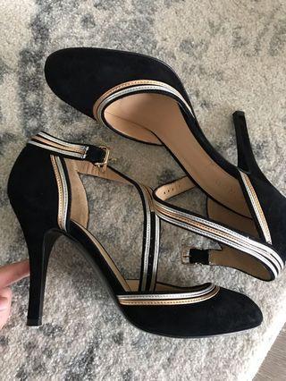 J CREW Split Tone Black Heels