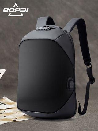 🚚 Bopai - Waterproof USB Charge Port Backpack Anti Theft Backpack