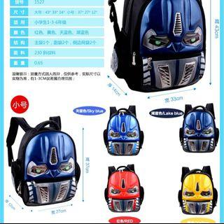 *preorder* Marvel's Avengers and Transformers Preschool School Bag for Boys (Suitable for 3-6yrs)