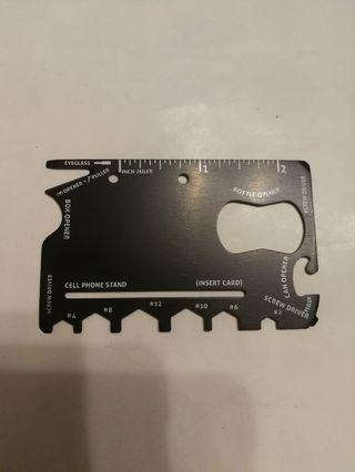 Compact Travel Multi-Functional Tool Card