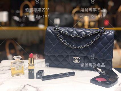 Chanel 深藍羊皮經典25Coco