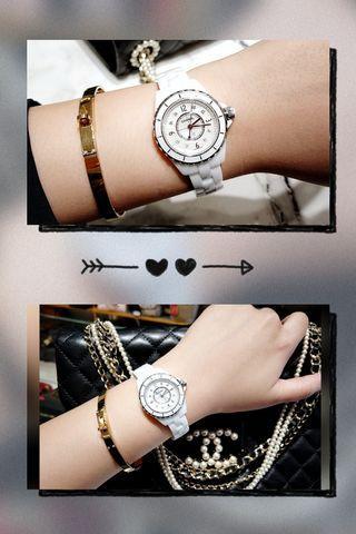 📢官方廣播📢  Chanel j12 白色陶瓷8點鑽貝殼面28mm  講到Chanel的代表作 除了有經典coco包、boy外  再來就是J12手錶了  白陶瓷高度耐磨抗刮👍 硬度可媲美藍寶石,經過鑽石粉末的潤色 呈現出相當獨特的色彩及光澤 ❤❤❤❤❤❤❤❤❤❤❤❤ CHANEL 香奈兒永恆不滅的魅力 以及堅毅優雅的精神  👇下方直接留言,線上有專人為您服務。