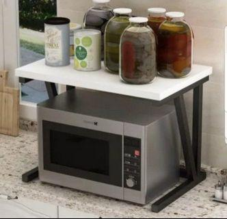 Kitchen microwave oven rack