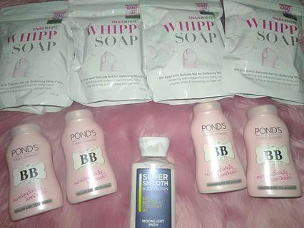 Take All Bundle Clearance Sale Snail White Whipp Soap Ponds Bb Powder