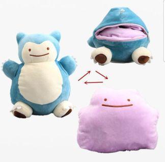 🚚 Ditto x Snorlax plush/purse (pokemon, detective pikachu)