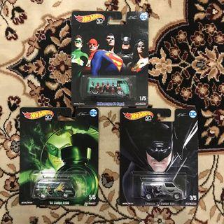 Hotwheels Alex Ross DC Comics Characters