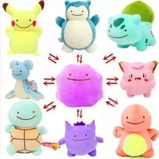 🚚 Ditto (inside out plush) x Pikachu x Charizard x Bulbasaur x Squirtle x Lapras x Gengar x Clefairy x Snorlax(Pokemon, detective pikachu)