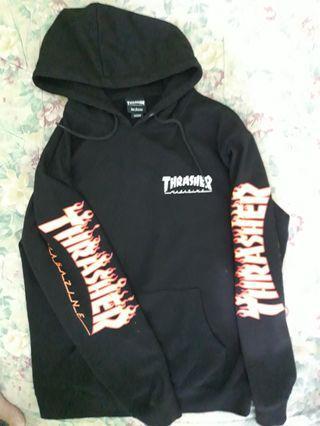 Thrasher flame sleeve hoodie