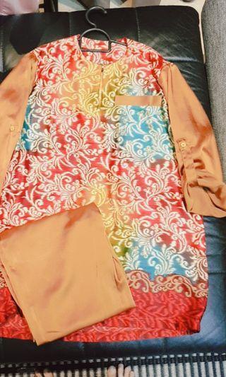 Baju melayu lelaki batik morden (Exotic batik)