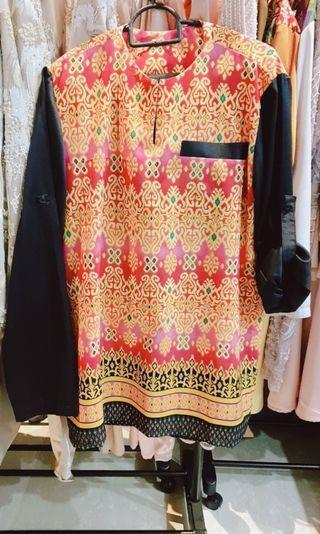 Baju melayu lelaki batik morden (batik exotic)