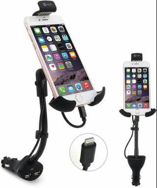 Te-rich Universal Car Mount with USB Charger for iPhone