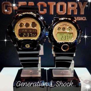 COUPLE💝PAIR SET : 1-YEAR OFFICIAL WARRANTY : 100% Original Authentic G-SHOCK Resistant : Best For Most Rough Users & Unisex : BG-6901-1DR / BG-6901-1 / DW-6900CB-1DS / DW-6900CB-1 / CASIO / BABYG / GSHOCK / WATCH