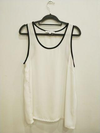 Sleeveless top.