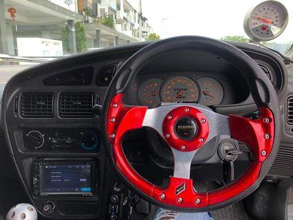 Proton satria 1.3(m) special edition 2005 spot rims racing exhaust full sound system