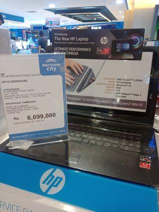 Laptop HP Ryzen 3 promo cicilan free 2x