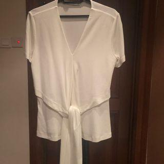 White Knot Top by Mango