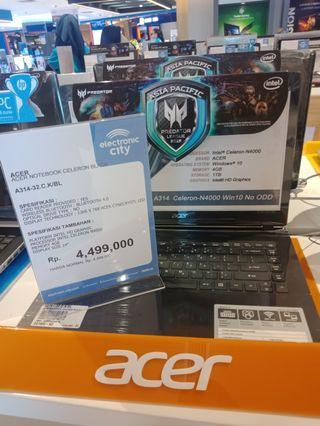 Laptop Acer Celeron promo cicilan free 2x