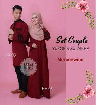 Jubah Zulaikha + Kurta Yusof ( Couple Set )