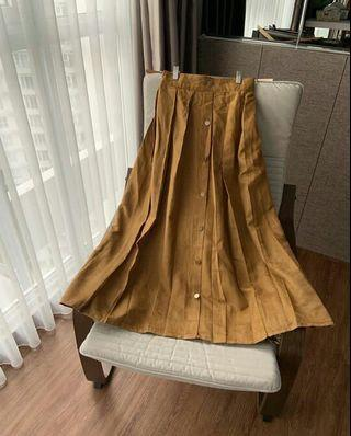 Rok suede / button skirt / rok import
