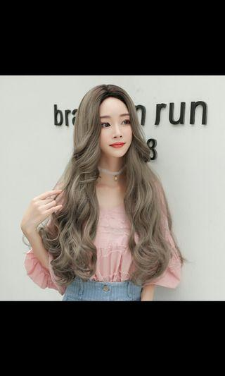 (NO INSTOCKS!)Preorder korean natural centre parting wavy long full head wig * waiting time 15 days after payment is made *chat to buy to order