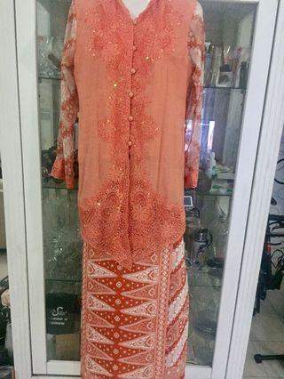 Light Orange Kebaya