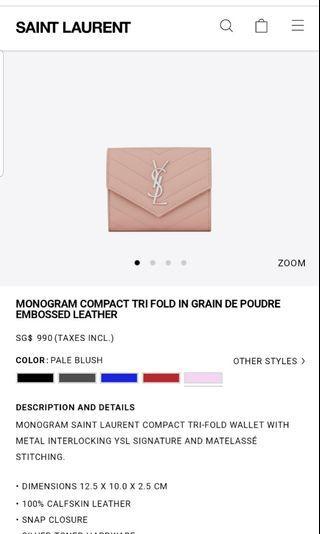 Brand New in box YSL Wallet