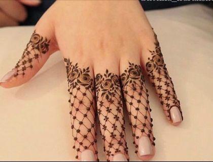 Trendy Finger Henna for Raya