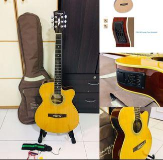 Electric/Acoustic Swing Guitar w/ Accessories