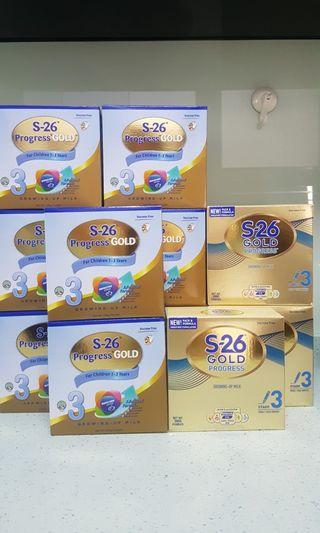 [200g × 27 Boxes - FREE Qexpress Delivery] S26 Stage 3 Progress Gold Milk Powder