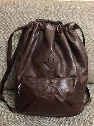 Stretchable Leather Backpack